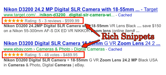 Shoipo Google rich snippets examples
