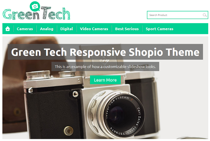 Green Tech Shopio Ecommerce Theme