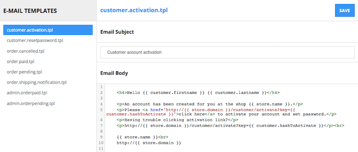 Subject field is now editable for E-mail Templates