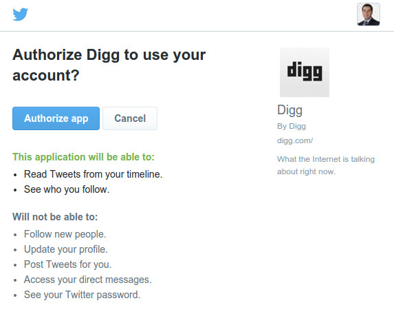 digg registration