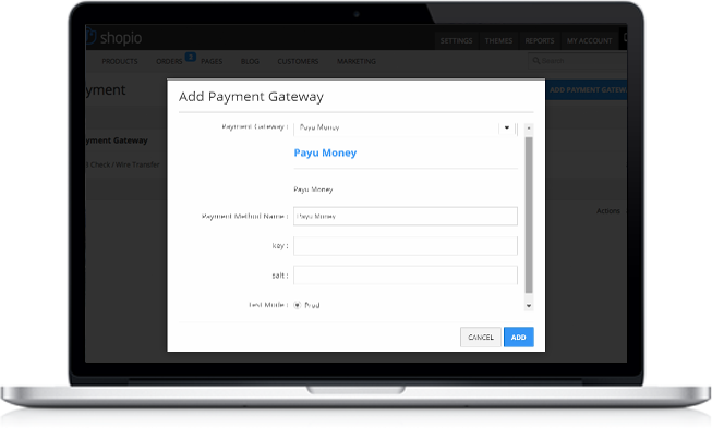 Shopio PayU Money Payment Gateway